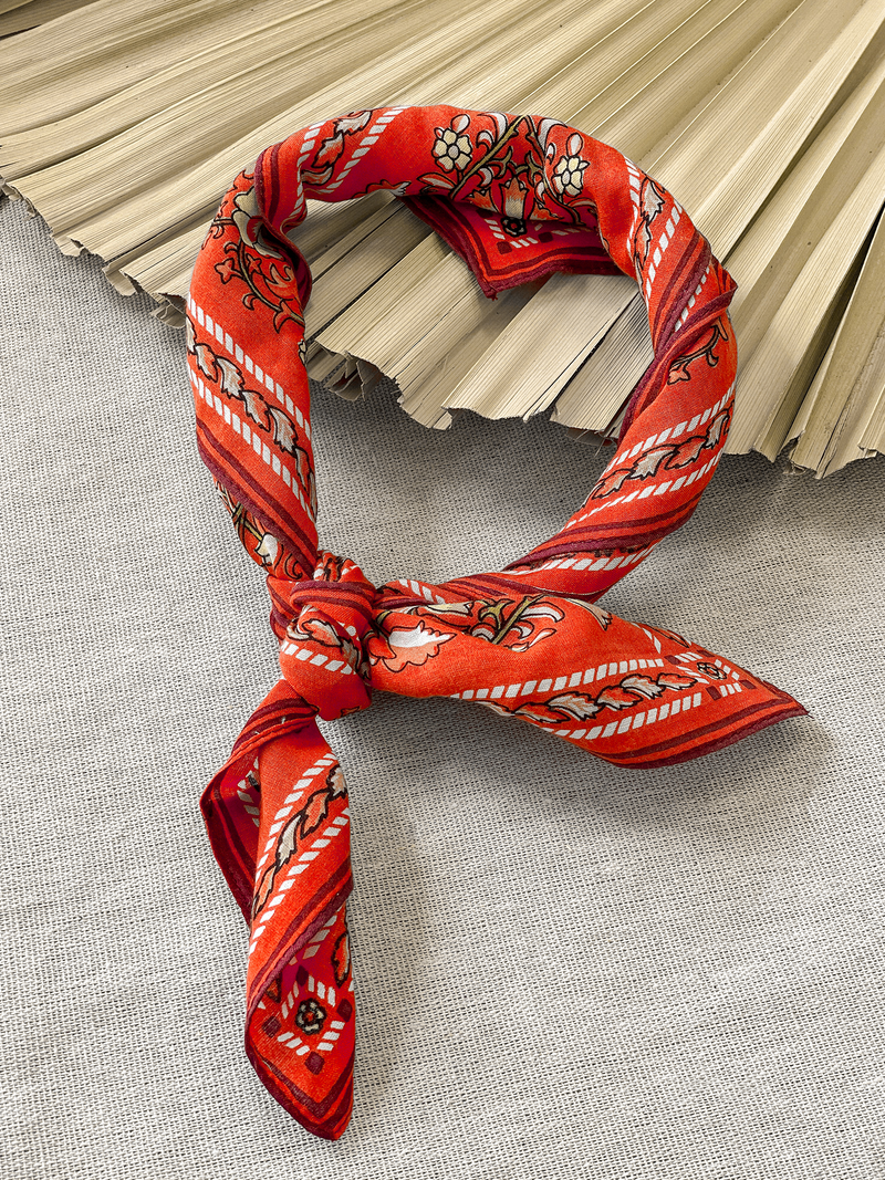 Tagore Bandana in Rust - Stitch And Feather