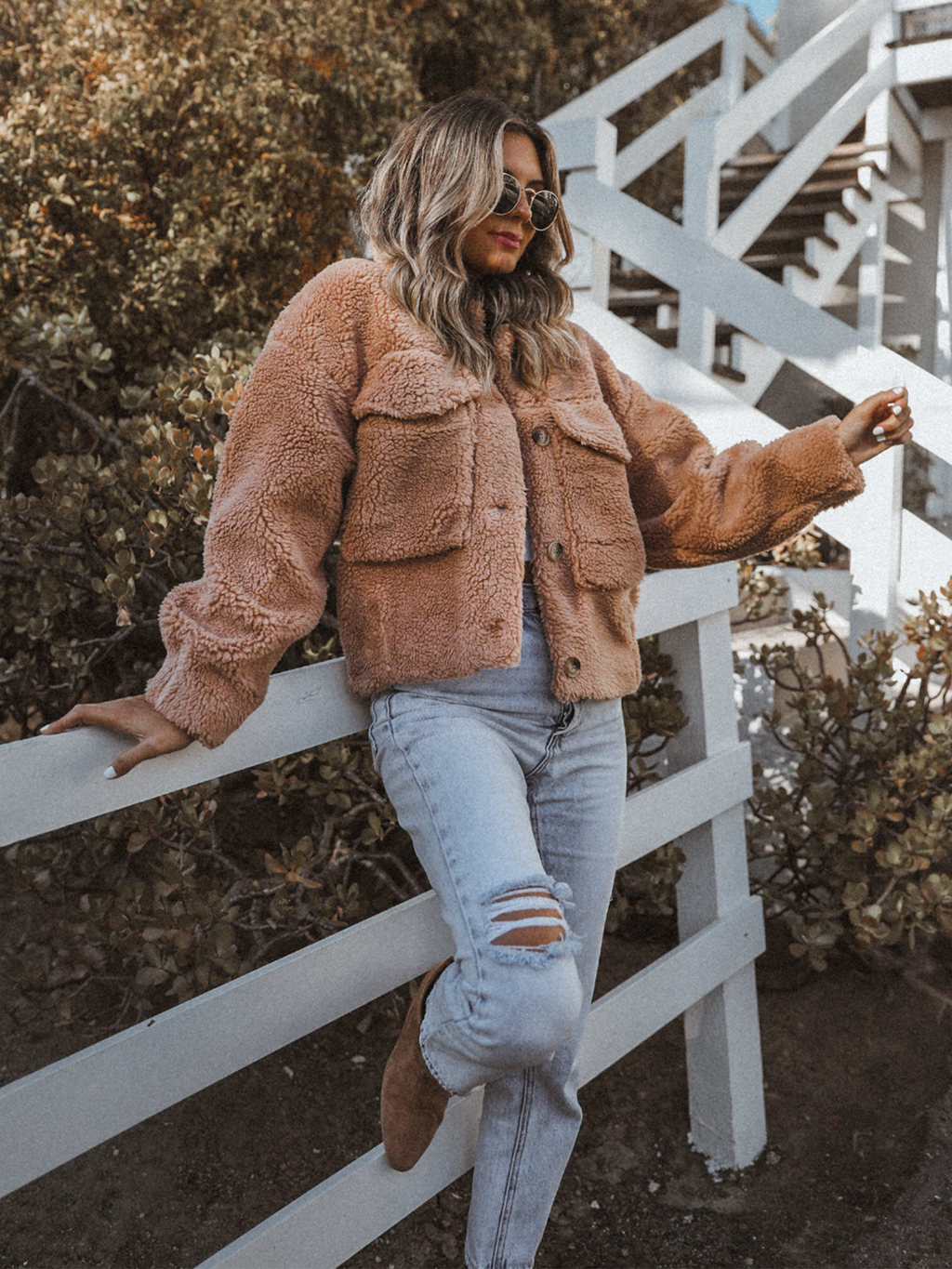 Teddy Pocket Jacket in Clay - Stitch And Feather