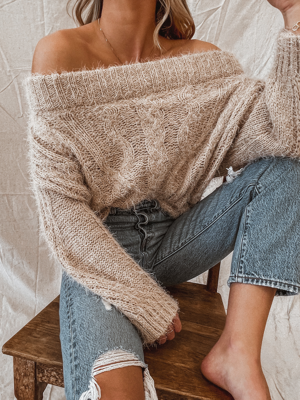 Tiramisu Knit Sweater - Stitch And Feather
