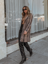 Kinsley Snake Suede Coat - Stitch And Feather