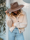 Mrs. Teddy Coat in Beige - Stitch And Feather