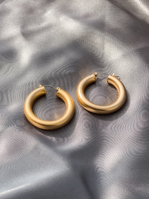 Gianna Gold Hoops - Stitch And Feather