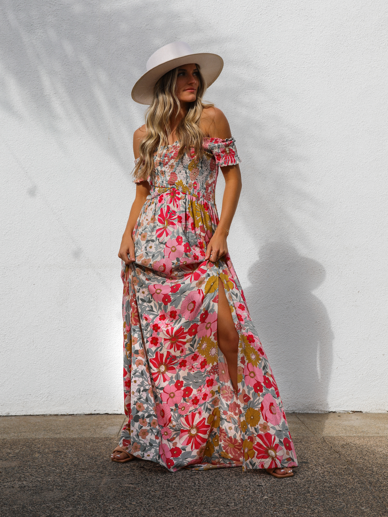 Blown Away Maxi Dress - Stitch And Feather
