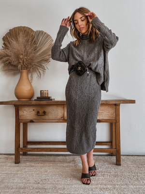All Too Well Knit Midi Skirt - Stitch And Feather