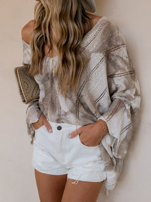 Sand Storm Knit Sweater - Stitch And Feather
