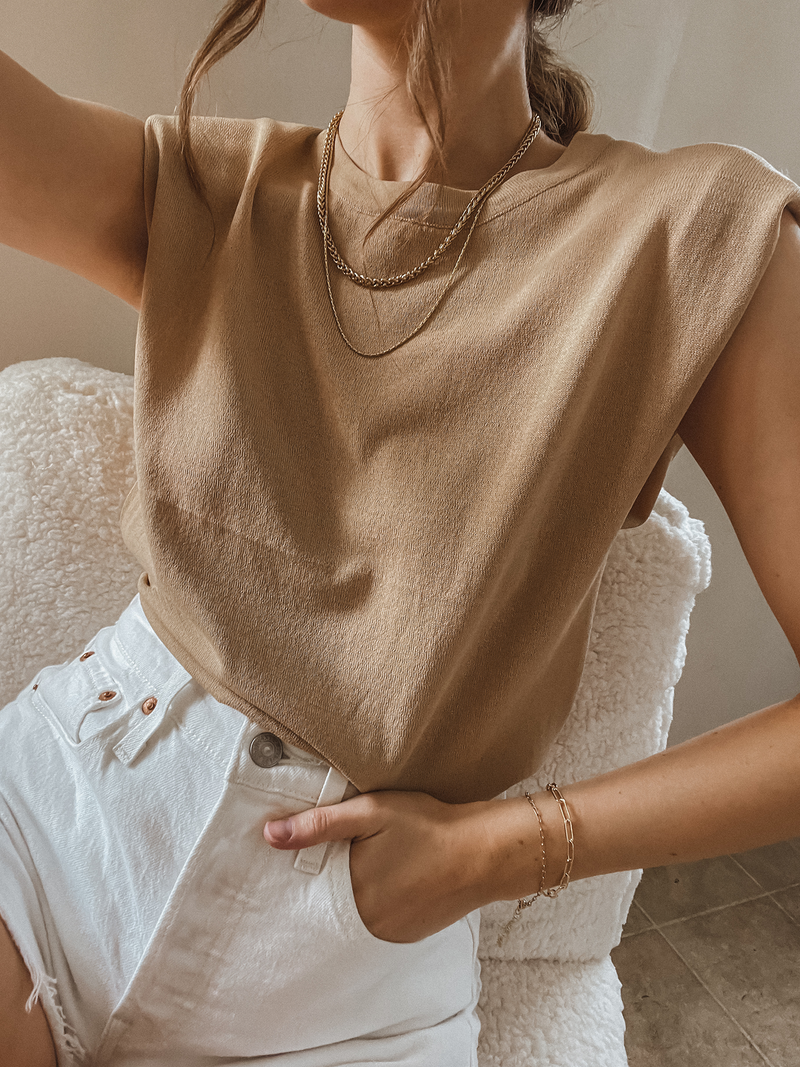 Caramel Dreams Knit Top - Stitch And Feather