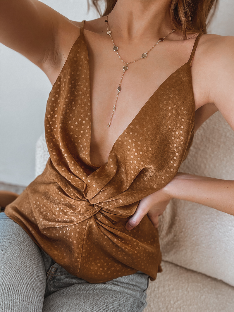 Golden Hour Twist Top - Stitch And Feather