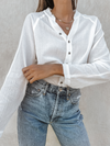 Gauze Button Down in Off White - Stitch And Feather