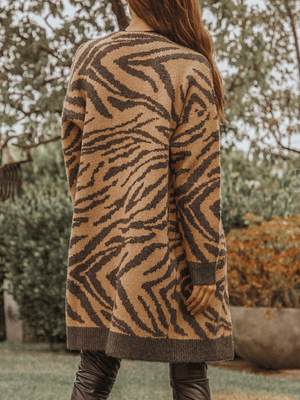 Safari Knit Cardigan - Stitch And Feather