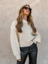 Cross Back Knit Sweater - Stitch And Feather