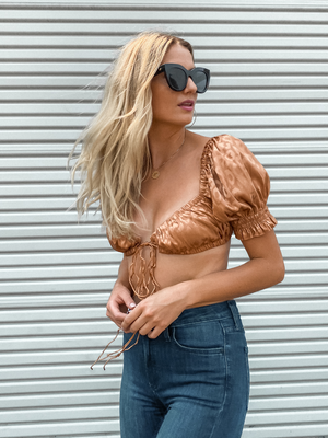 Golden Rule Crop Top - Stitch And Feather