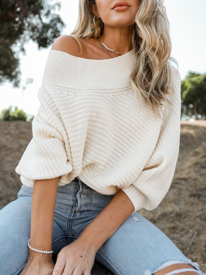 Creamy Knit Sweater