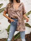 Andy Satin Button Top - Stitch And Feather