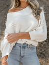 Creamy Knit Sweater - Stitch And Feather