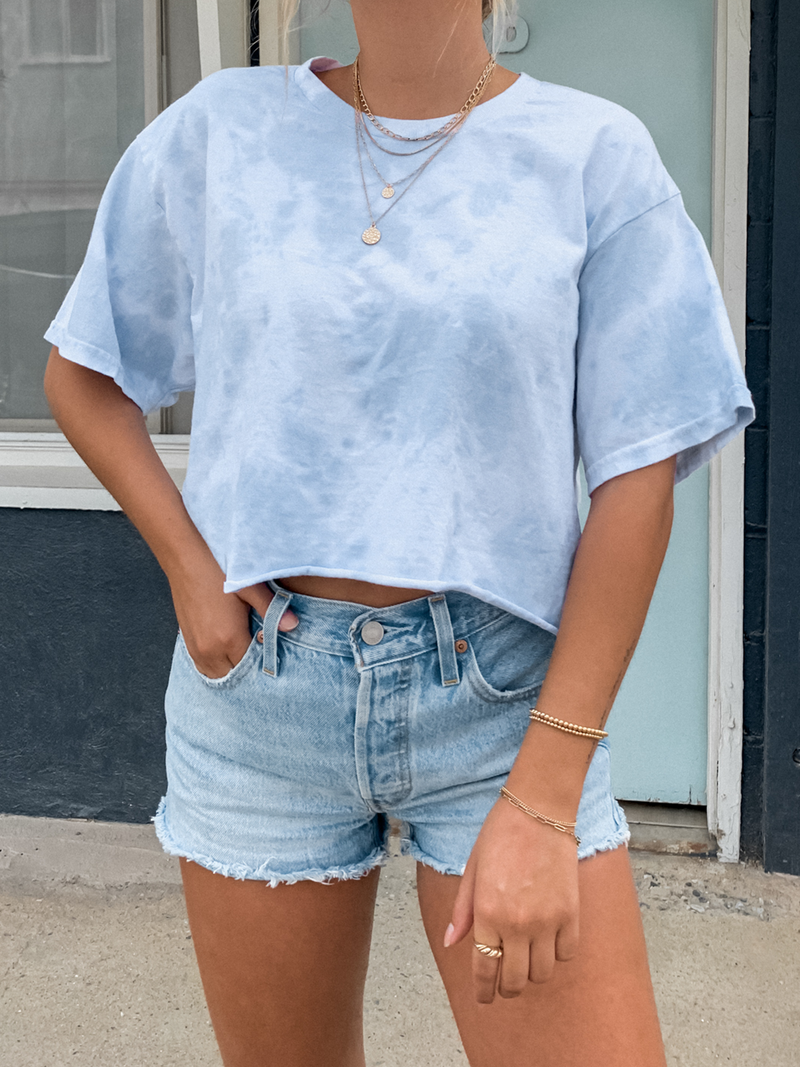 In the Clouds Crop Top - Stitch And Feather