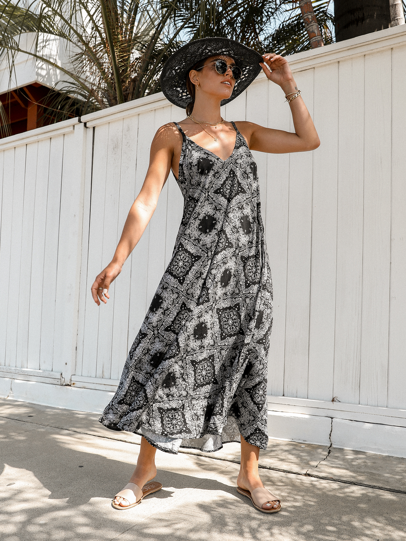 Bandana Maxi Dress - Stitch And Feather