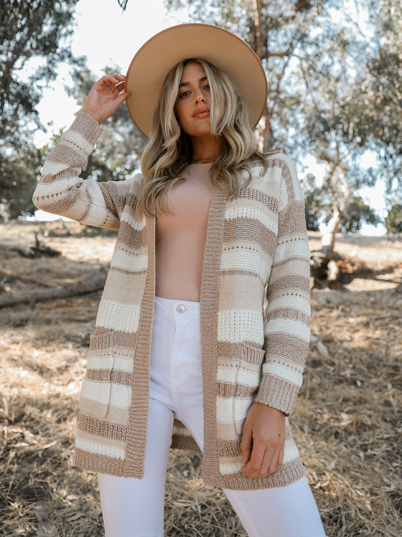 Mix Stripe Cardigan