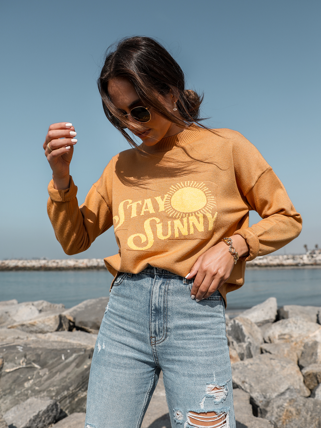Stay Sunny Sweater - Stitch And Feather