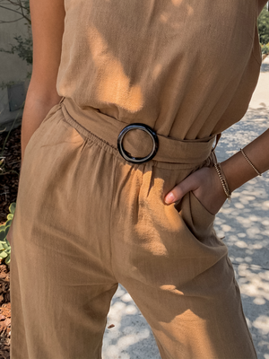 Desert Sand Jumpsuit - Stitch And Feather