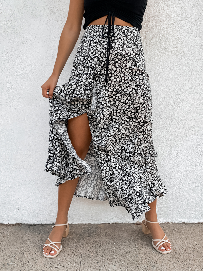 Wild One Floral Maxi Skirt - Stitch And Feather