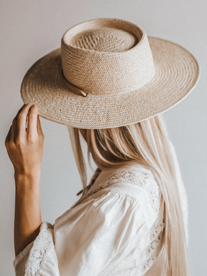 Aiden Straw Hat in Cream - Stitch And Feather