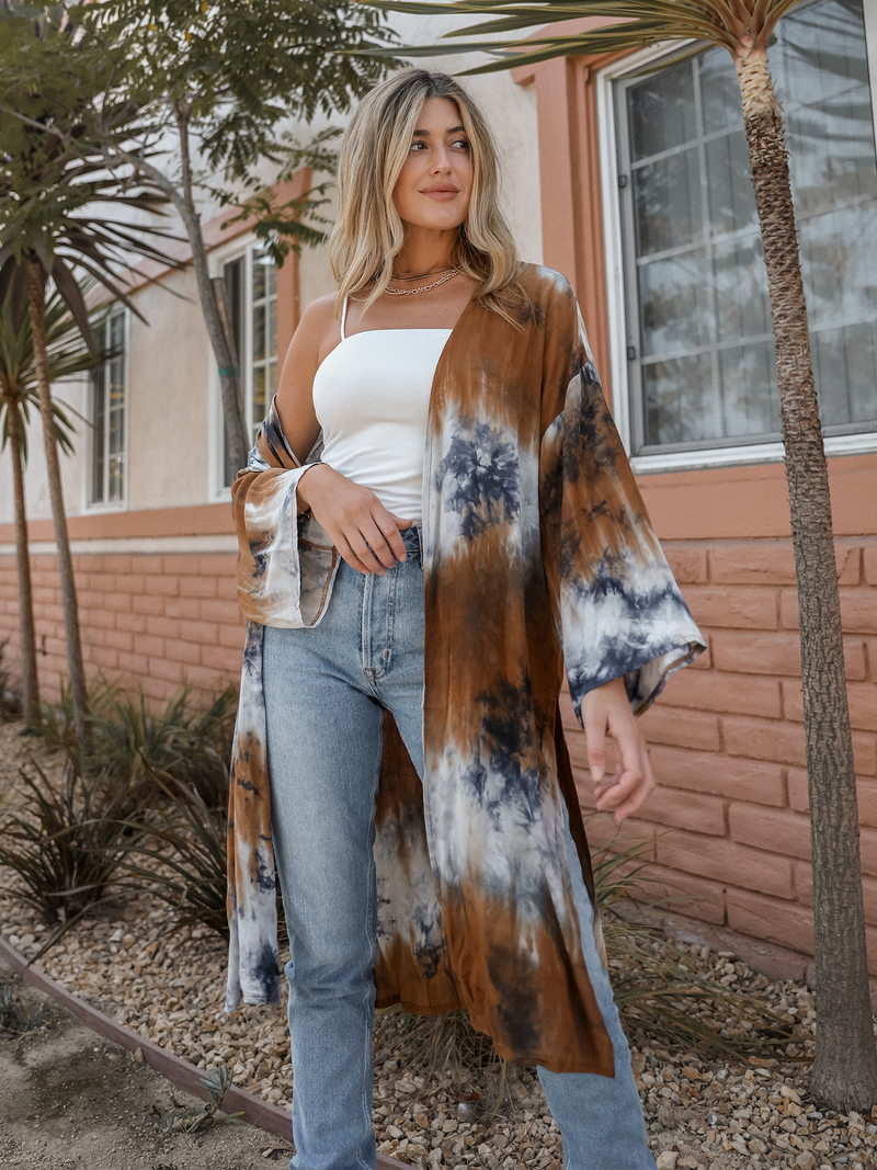 Tie Dye Dream Kimono - Stitch And Feather