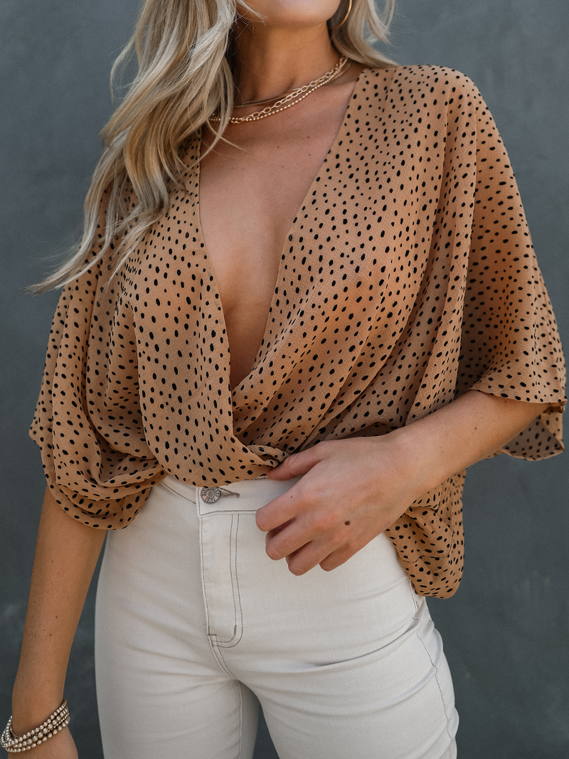 Dottie Wrap Kimono Blouse - Stitch And Feather