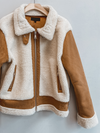 70s Suede Sherpa Jacket - Stitch And Feather