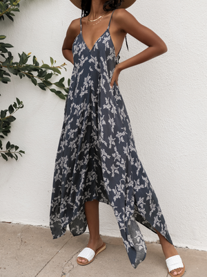 Midnight Blossom Maxi Dress - Stitch And Feather