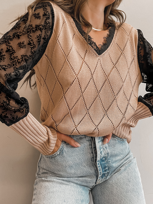 Lacie Knit Top - Stitch And Feather