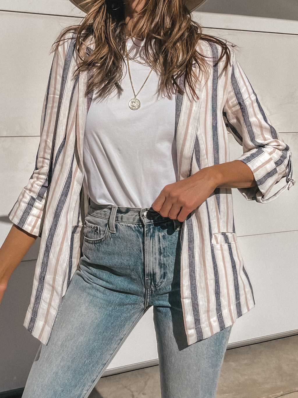 Run the Show Linen Blazer - Stitch And Feather