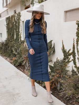 Inside Out Midi Dress - Stitch And Feather