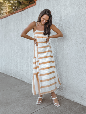 Bella Striped Maxi Dress - Stitch And Feather