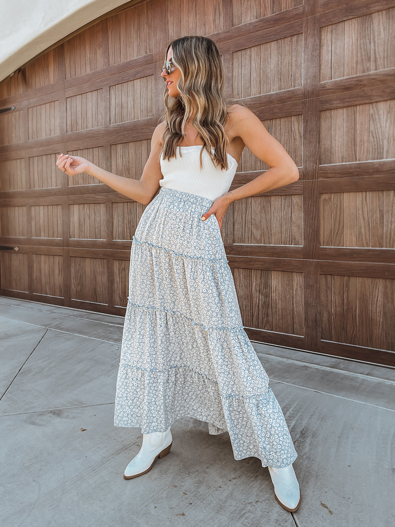 Under the Bridge Maxi Skirt - Stitch And Feather