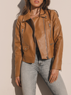 Road To Riches Leather Jacket in Camel - Stitch And Feather