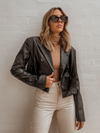 Rodeo Drive Leather Jacket - Stitch And Feather