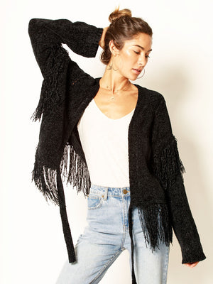 Feel Her Move Chenille Cardigan - Stitch And Feather