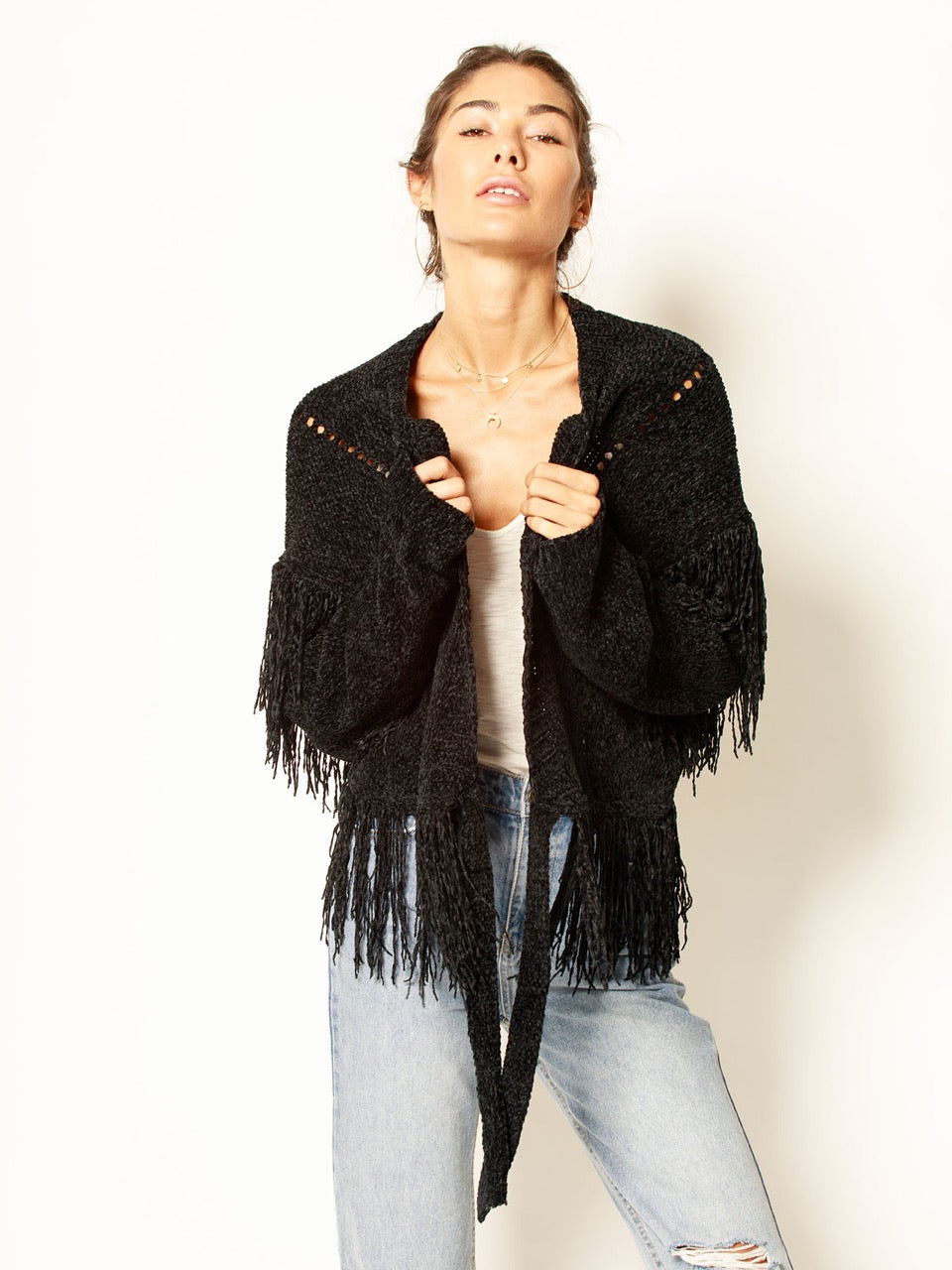 Feel Her Move Chenille Cardigan