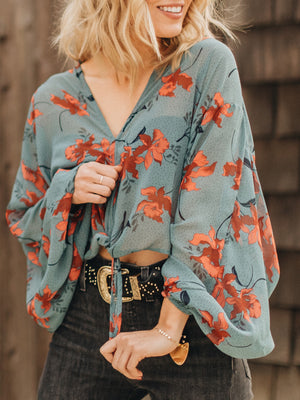 Wild Flower Blouse Iris - Stitch And Feather