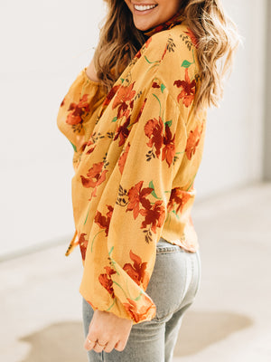 Wild Flower Blouse Marigold - Stitch And Feather