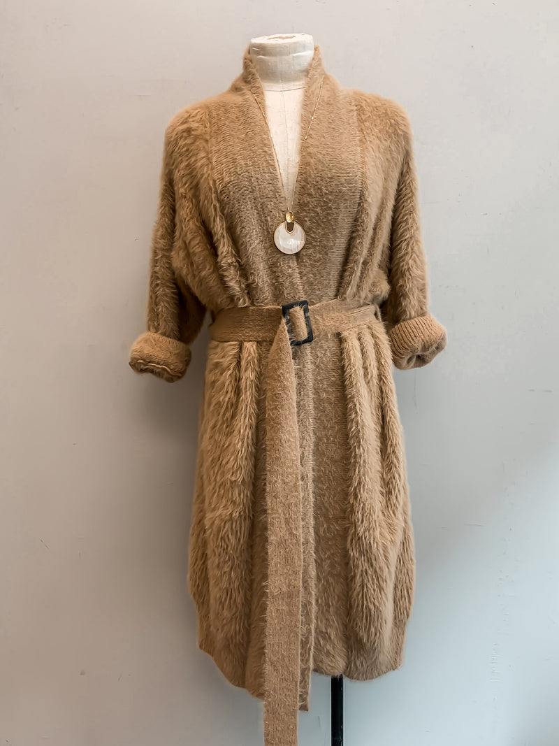Soft belted Cardigan - Stitch And Feather