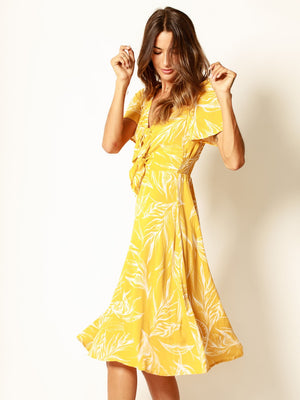 Golden Beauty Midi Dress - Stitch And Feather