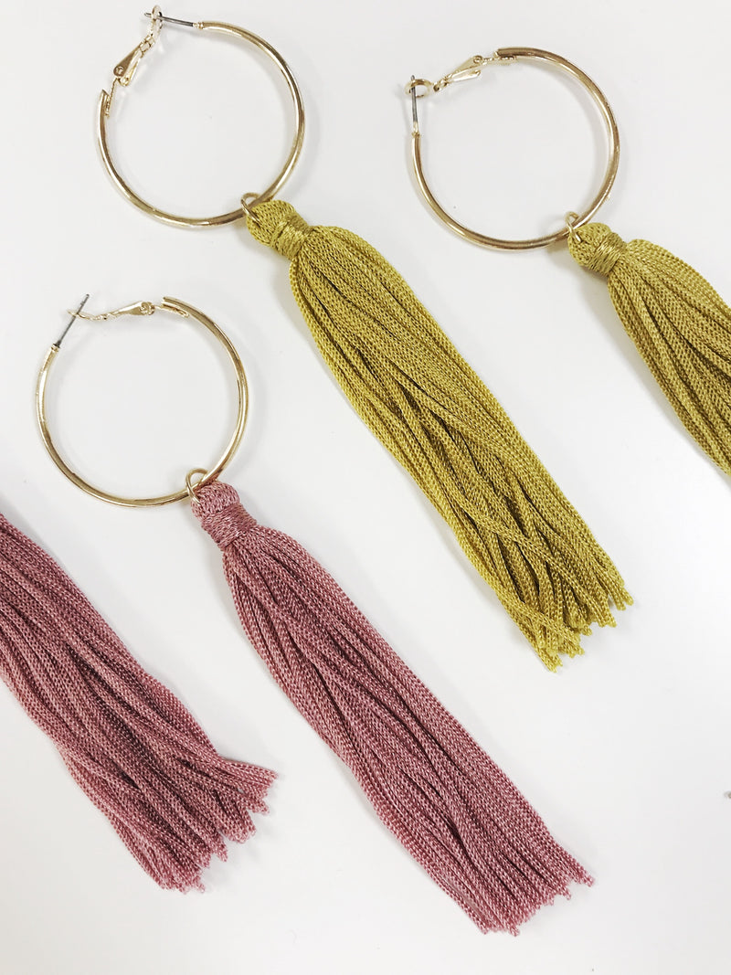 Tassel Earrings - Stitch And Feather