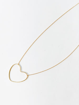 Heart Outline Necklace - Stitch And Feather