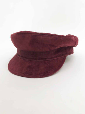 Burgundy Suede Fisherman Hat - Stitch And Feather