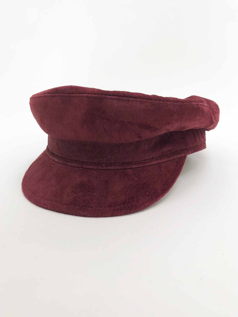 Burgundy Suede Fisherman Hat