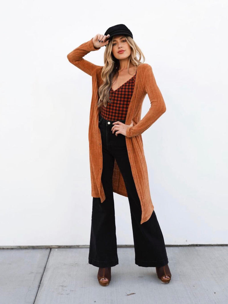 Rustic Knit Duster Cardigan