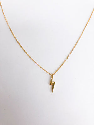Lightning Bolt Necklace - Stitch And Feather