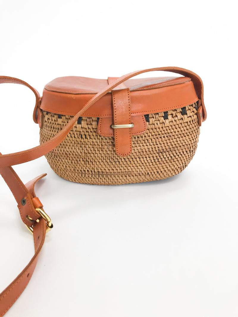 Matahari Rattan Crossbody - Stitch And Feather