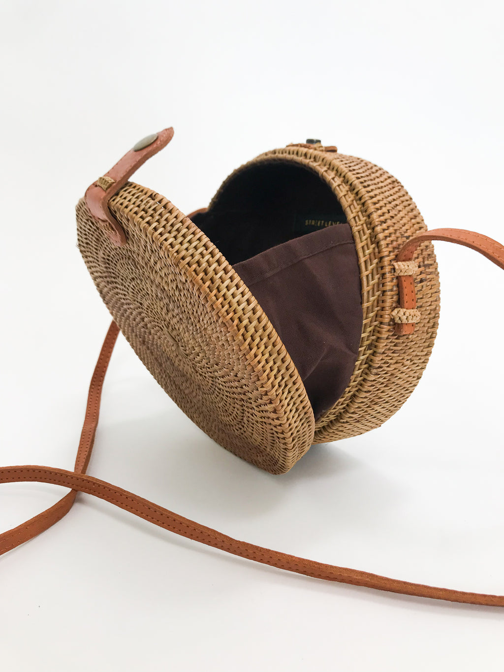 Bagus Rattan Cross Body - Stitch And Feather